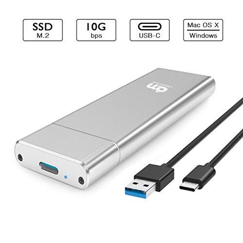 6amLifestyle M2 NGFF USB C 3.1 per 2230/2242 / 2260/2280 Key B o B & M SSD, M.2 SATA a USB C Adattatore 10 Gbps, Argento