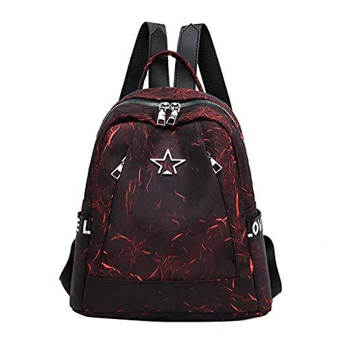 Dorical Rucksack für Damen FrauenGroß Rucksack Schwarz Leder Rucksack Elegant Schulrucksack Rucksack, Handtasche Daypack Schulranzen für mädchen(Rot)