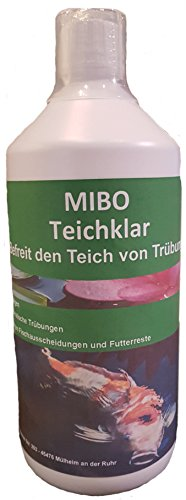 MIBO Teichklar Teichklärer 1.000 ml für 20.000 Liter gegen trübes und grünes Gartenteichwasser