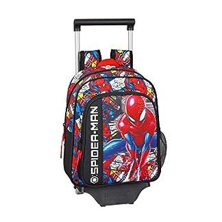Spiderman «Super Hero» Oficial Mochila Infantil Con Carro Safta 705