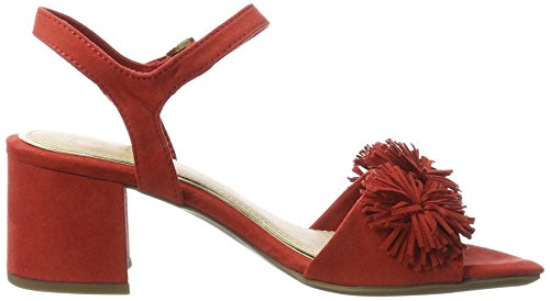 Marco Tozzi 28315, Sandales Bout Ouvert Femme Rouge (Red 500)