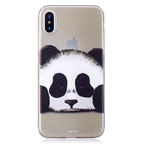 "Coque pour Apple iPhone X , IJIA Transparent Mignon Dauphins TPU Doux Housse Silicone Case Bumper Cover Shell Etui pour Apple iPhone X (5.8"") TX22"