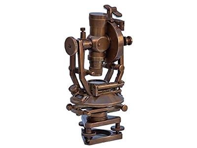 Hampton Nautical Li-1513-an Laiton antique Theodolite 25,4cm–Vintage nautique Instrument–Antique Theodolite