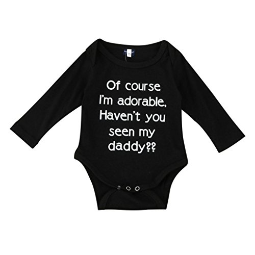 BURFLY Newborn Baby Boys Girls Cute Letter Arrow Print Romper Sunsuits (12-18Months, Black)