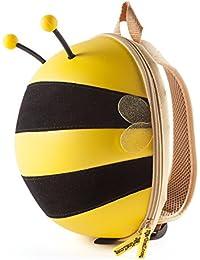 CKB Ltd® Abeja babytens–Bolsas de la escuela de los niños guardería Kindergarten Back Packs colorido diversión–Mochila de las niñas/niños Premium 3d Cartoon Buzzy Bee diseño | resistente | impermeable | para todas las edades con acolchada ajustable correas