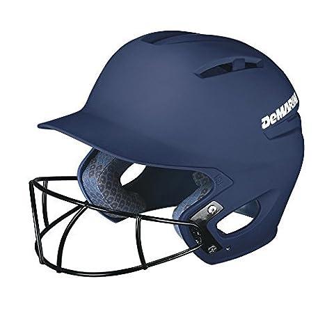 DeMarini Paradox Batting Helmet with Softball Protective Mask, Navy, Large/X-Large by DeMarini