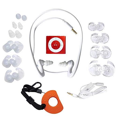 Underwater Audio- Wasserdichter iPod Shuffle (Rot), HydroActive Kopfhörer Bündel (Ihre Ohrhörer Shuffle Ipod Ipod)