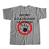 Nicht Quatschen Machen Chaos Tshirt | Tshirt Unisex Grau M