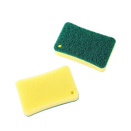 HIUGHJ Reinigungswerkzeug Küchenschwamm Radiergummi Melaminreiniger Multifunktionsreiniger Nano Schwammspülbürstenreiniger, 2St -