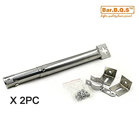 (Pack de 2) Bar.b.q. 'Remplacement Universal Stainless Steel Tube droit
