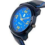 Bullet BLT_25 Smooth Looks Blue Dial & Leather Strap Casual Analog Men's Watch