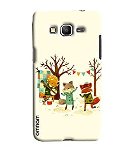 Omnam Wolf Enjoying Party Printed Designer Back Cover Case For Samsung Galxy Grand Prime