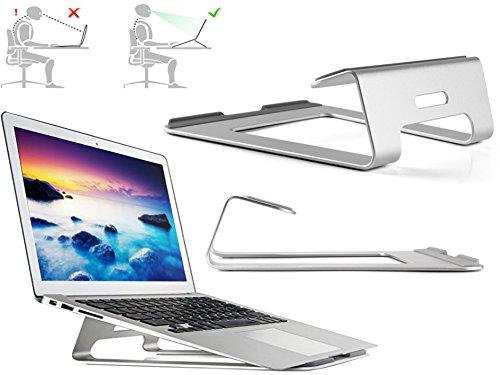 XTAB Notebook Ständer | Für MEDION ERAZER® P7643 | Aluminium Halter | Laptop Ständer für Büro | Wärmeableitung | LTS 2 Space Grau