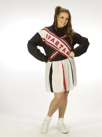 Kost-me f-r alle Gelegenheiten Fw100175 Cheerleader M-dchen Spartan Plus- (Spartan Cheerleader Kostüm)