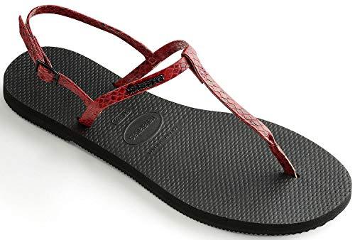 Havaianas - Sandalo nero/rosso YOU RIVIERA CROCO