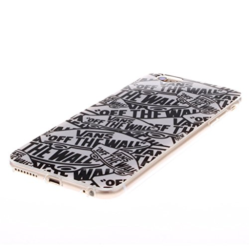 iPhone 6S Custodia, Hamyi iPhone 6 Cover in Morbida Silicone TPU Slim Protettiva Case per Apple iPhone 6/6S (Schermo da 4,7 pollici) (Lettera)