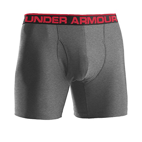 Under Armour Men's The Original Boxer Jock 6-inch Under Armour Men's The Original Boxer Jock 6-Inch Underwear - True Grey Heather, Medium