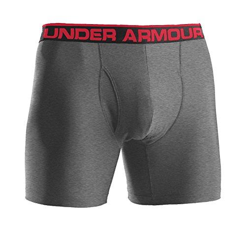 Under Armour Mens The Original Boxer Jock 6-inch Men's The Original Boxer Jock 6-inch Underwear - True Grey Heather, Medium