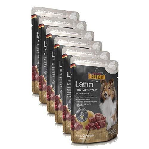 BELCANDO Nassfutter FINEST SELECTION Lamm + Kartoffel + Cranberries 300g für Hunde