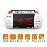 Elitech STC-1000 Controlador de temperatura digital de -40?-99?, Termostato Digital Calefacción y Refrigeración ek-3030e, Descongelación forzada, IP65