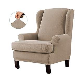 E EBETA Jacquard Sesselbezug, Sessel-Überwürfe Ohrensessel Überzug Bezug Sesselhusse Elastisch Stretch Husse für…
