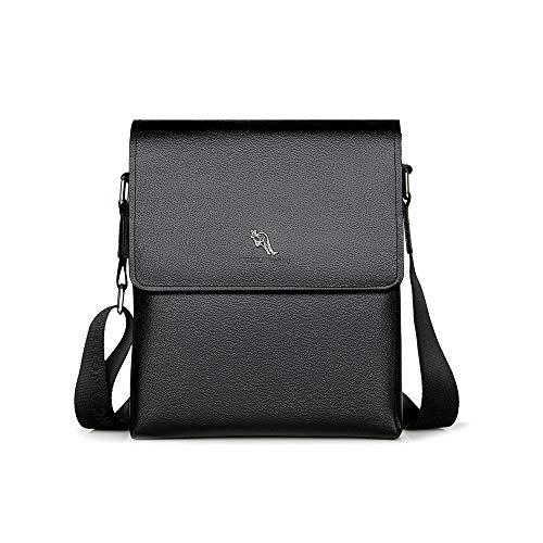 Borsa a tracolla uomo messenger bag organizer portatutto borsa a spalla cuoio borsa di affari,zaino crossbody sling per ufficio business viaggio,regolabile/resistente