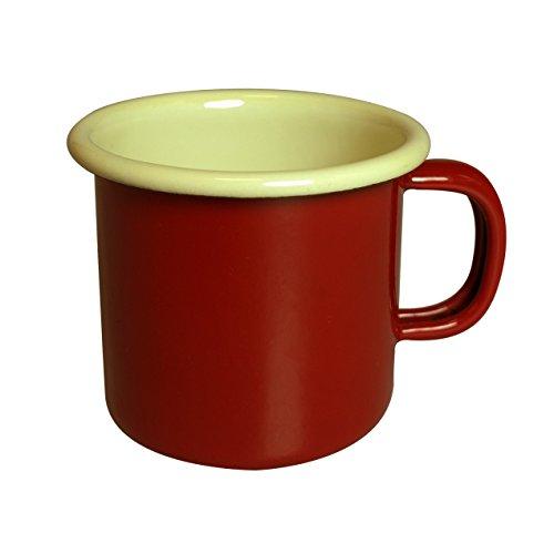 Dexam Vintage Home Tasse à Expresso en émail 150 ML, Rouge Bordeaux