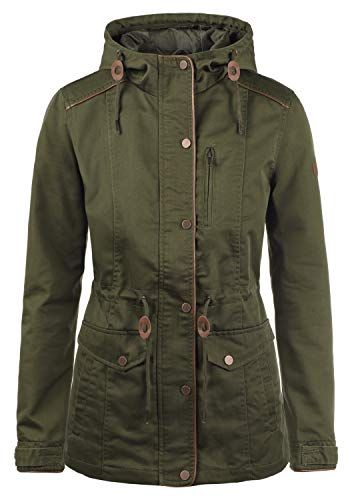 DESIRES Anja Damen Übergangsjacke Mantel Parka leichte Jacke mit Kapuze, Größe:L, Farbe:Ivy Green (3797) Parka Mantel