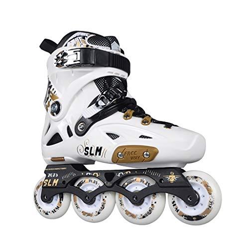 CHEXIAOlbx Inline-Skates Für Erwachsene, Club-Rollerblades Für Herren Und Damen, Professionelle Fancy-Skating-Schuhe (weiß, Schwarz) (Color : White, Size : EU 43)