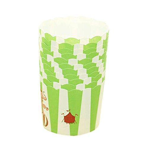 Blancho 96 PCS Tasse de Cupcake de papier de cuisson, Tasse de moule de cupcakes créative #25