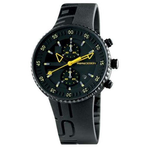 Momo Design Jet Black Quartz Uhr, PVD, Chronograph, 43mm., 5 atm., MD2198BK-31