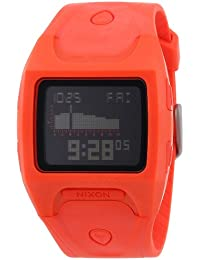 Nixon Herren-Armbanduhr The Lodown Neon Orange Digital Quarz Plastik A5301156-00