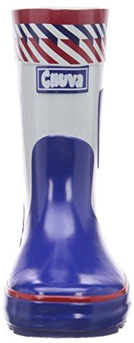 Chuva Kinder Gummistiefel mit Polizei-Motiven 35, Unisex-Kinder Halbschaft Gummistiefel Blau (blau(blauw/wit) 04)