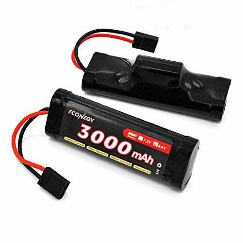 FCONEGY NiMH-Akku 8.4V 3000mAh Hump Pack mit Traxxas Stecker Batterie für RC Auto/Boot/Truck/LKW -