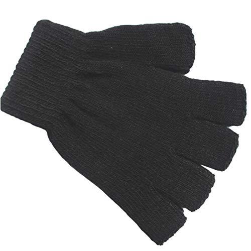Otoño invierno Moda casual cálidos guantes sin dedos