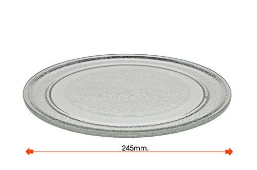 Plato giratorio microondas. Diametro exterior 245 mm. Diametro interior 180 mm.LG PANASONIC GALANZ.
