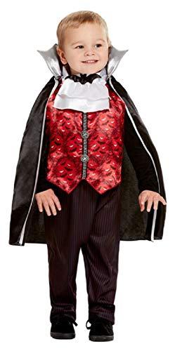 Fancy Me Kostüm für Kleinkinder, Jungen, traditionelles Vampir-Kostüm, 1-4 - Vampir Kostüm Für Kleinkind Jungen
