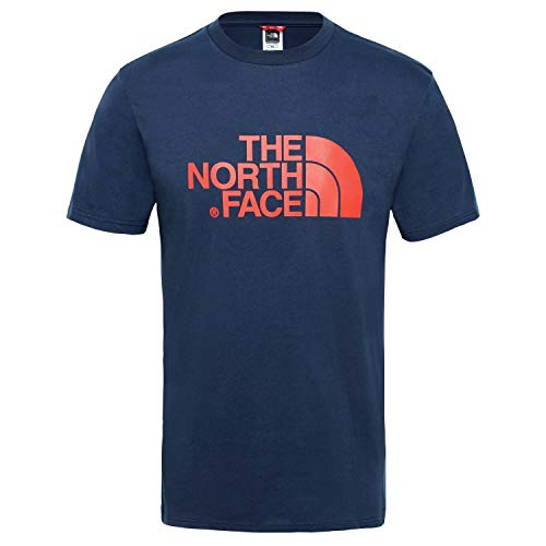The North Face Easy Tee T- T-Shirt Homme, Bleu (Urban Navy/Fiery Red), M