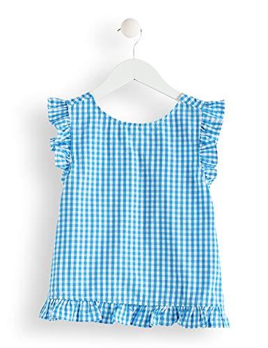 RED WAGON Mädchen Bluse mit Vichy-Muster Blau (Blue white Blue white), 116 (Herstellergröße: 8) (Blue-outfits Und Mädchen White Red)