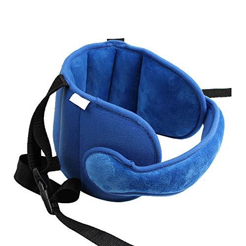 Kleinkind Autositz Hals Relief und Kopf Unterstützung,Kopf-Bügel für Kindersitz, Kinderwagen Kindersitz Befestigung Riemen Kopf Halter für Baby Kinder Kopfschutz Supports Komfortable Sichere (Blau) - Komfortable Riemen