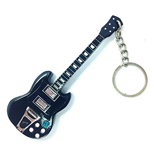 Portachiavi in Legno Forma Chitarra - AC / DC - Angus Young