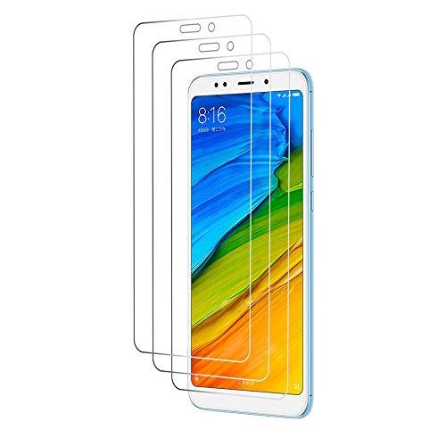 Loyiigo [3 Unidades Protector Pantalla Xiaomi Redmi 5 Plus, 9H Dureza - Alta Transparencia - 2.5d Bord, Cristal Templado Xiaomi Redmi 5 Plus[Upgrade]