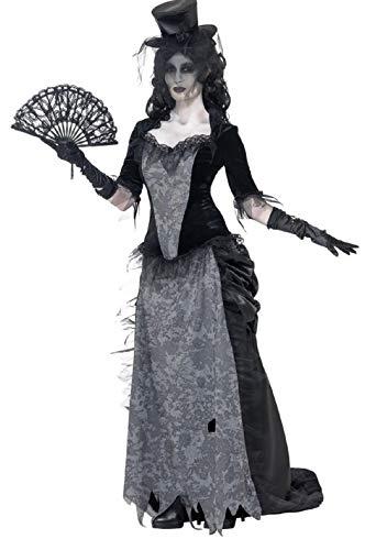 Town Kostüm Halloween - Fancy Me Damen Wilder Westen Witwe Ghost Town Mädchen Saloon Halloween Kostüm Kleid Outfit 8-18 - Schwarz, UK 16-18