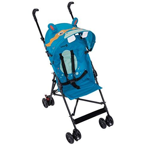Safety 1st Peps Buggy mit Sonnenverdeck, wendiger Kinderwagen nutzbar ab 6 Monate bis max. 15 kg, kompakt zusammenfaltbar, mit Feststellbremse und 5-Punkt-Gurt, wiegt nur 4,5 kg, Splatter Black