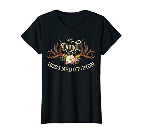 Mei Dirndl hob i ned g'fundn lustiger Spruch Damen Mädchen T-Shirt