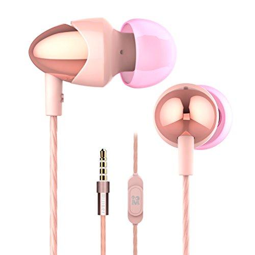 Scharfe Cancelling Noise Kopfhörer (Kopfhörer mijiaer M20Deep Bass Kopfhörer in-Ear-Kopfhörer Noise Reduction High Definition Kopfhörer Eingebautes Mikrofon und Fernbedienung für iPhone Samsung MP3Mac Laptop Android-Geräte)