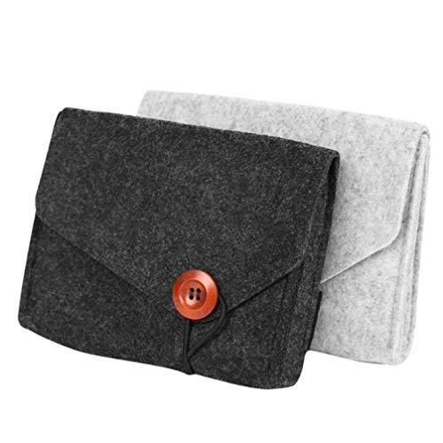 Oulensy Mini Filz-Beutel-Kopfhörer SD-Karte Energien-Bank-Daten-Kabel-Organisator-Fall Travel Home Storage Key Münze Package (Kopfhörer Fall)