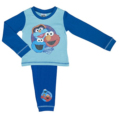 Jungen Furchester Hotels Pyjama-Set mit Elmo, Cookie M - Blue 4-5 years / 110 cm (Loungewear Baby-jungen-pyjama)