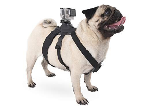 micros2u Halterung für Hundegurt/Geschirr für Action Cam. Kompatibel mit den meisten Action-Kameras, einschließlich Gopro, Xiaomi, SJCam etc.