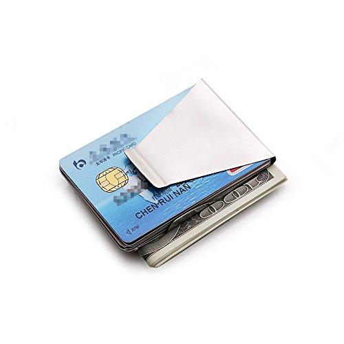 Tailcas® Fashion Dünn Edelstahl Doppeltes Seite Geldklammer Geldclip Kreditkarte Karten Geldbeutel Geldbörse Klammer (Geld-clips Fossil)